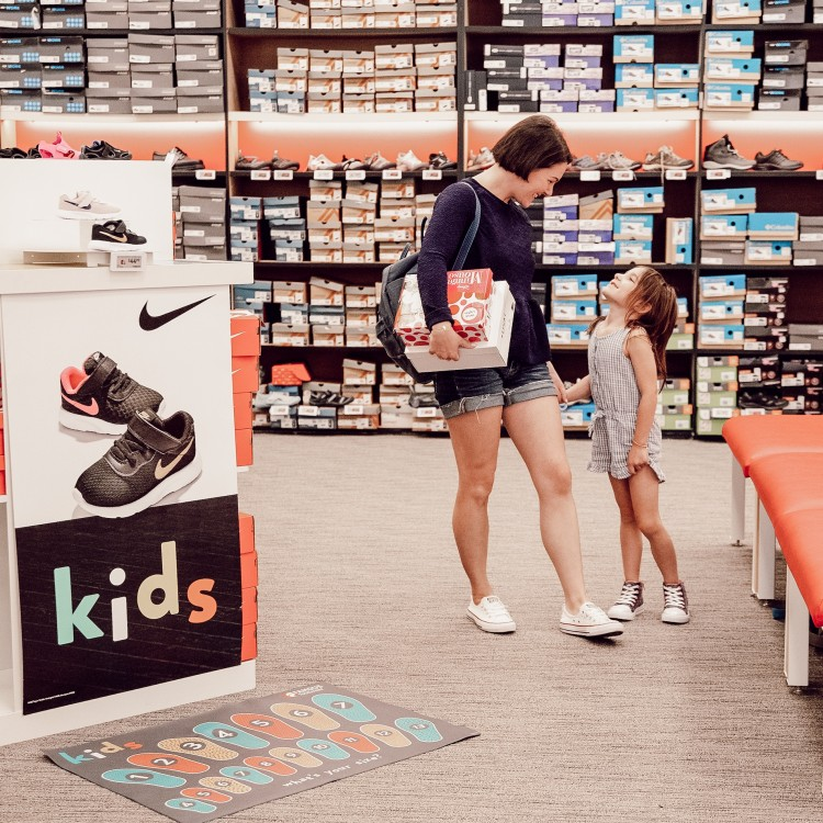 shoe shopping for kids at Famous Footwear
