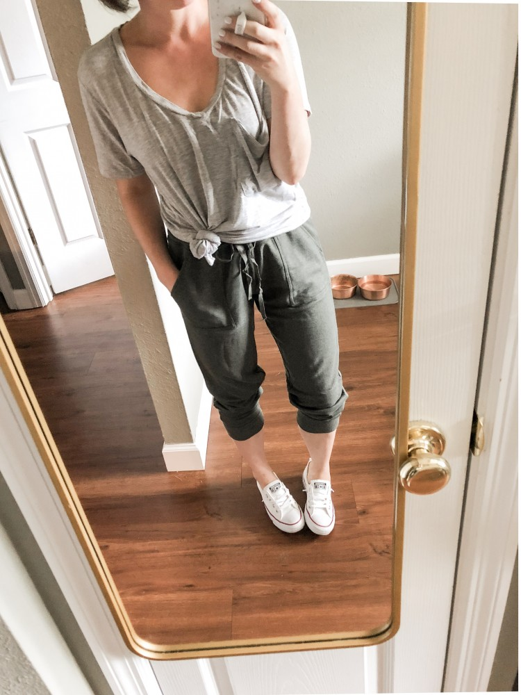 jogger pants from amazon with a z supply tee