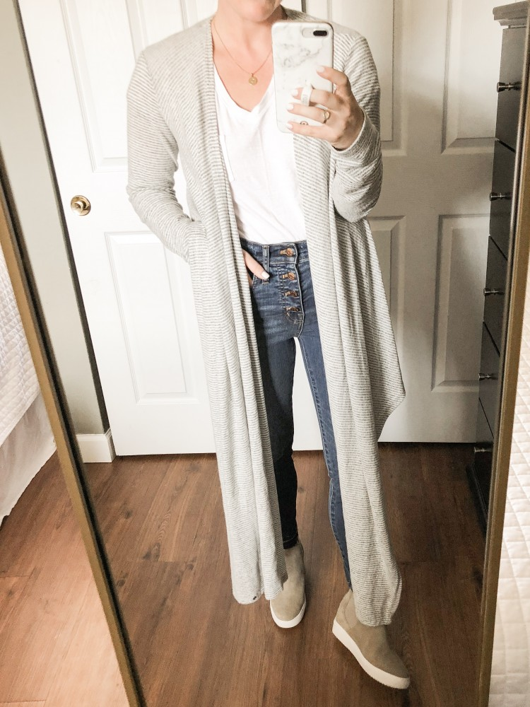 how to style a convertible wrap sweater - one sweater 4 ways #fallstyle