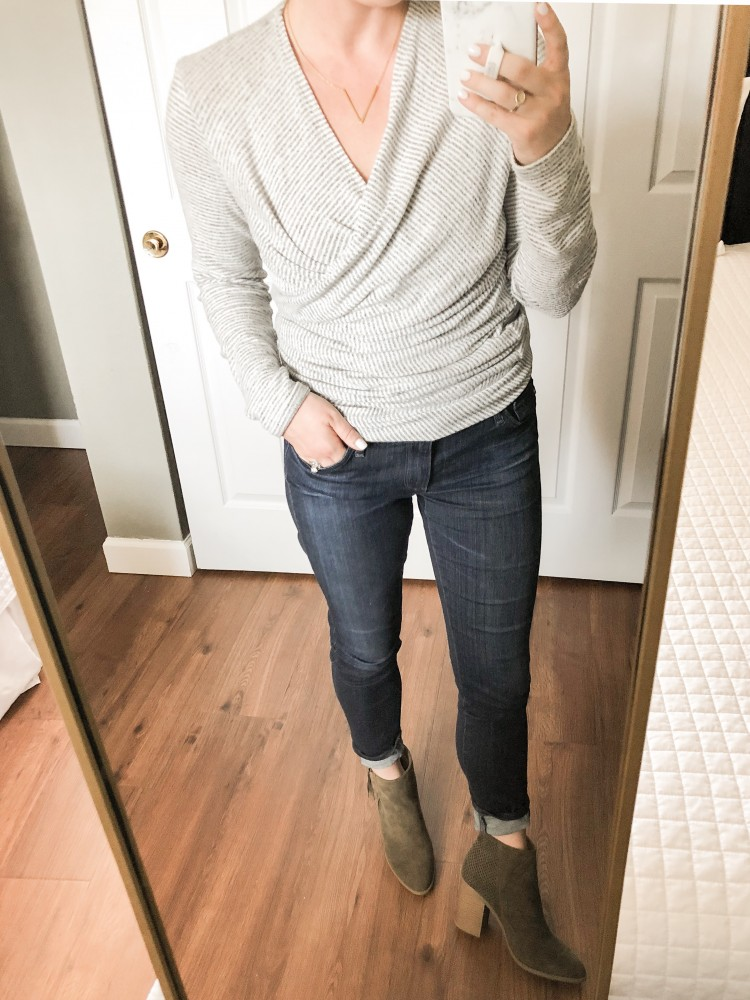 how to style a convertible wrap sweater - 4 easy outfit ideas using one piece! #style