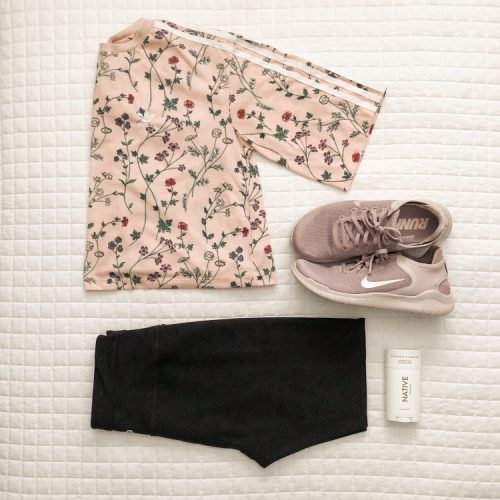 making the switch to natural deodorant + a cute workout outfit