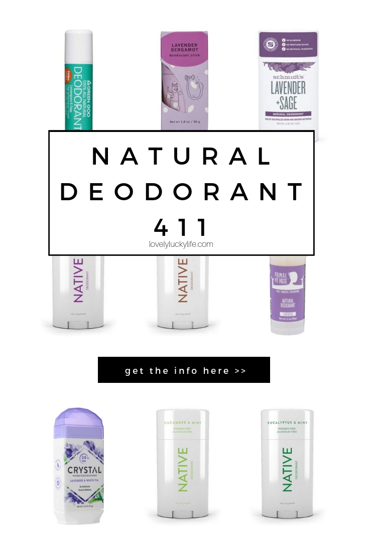 natural deodorants to try + why switch to natural deodorant