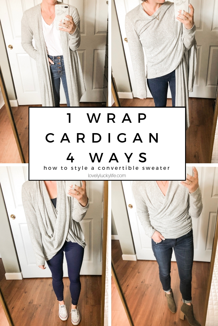 how to style a wrap cardigan - 1 piece worn 4 ways
