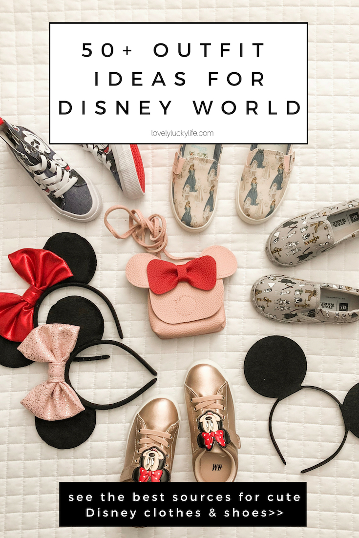 this post has 50+ cute outfit ideas for Disney... must pin if you're planning a trip to Disney with kids!