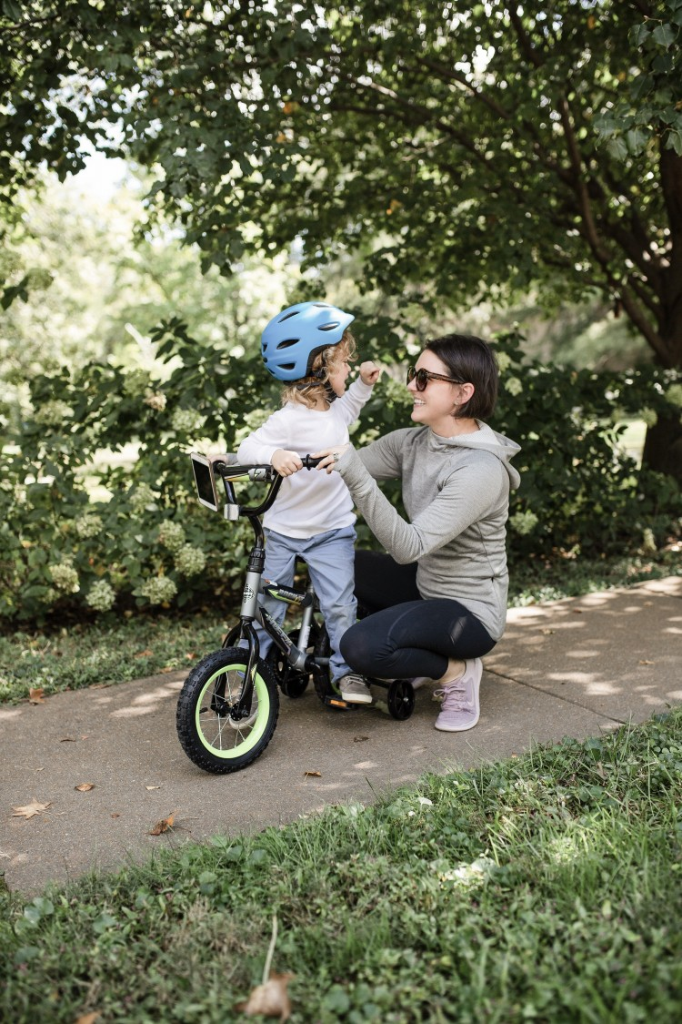 bicycling is a great pastime for preschoolers and toddlers - great way to get outside as a family