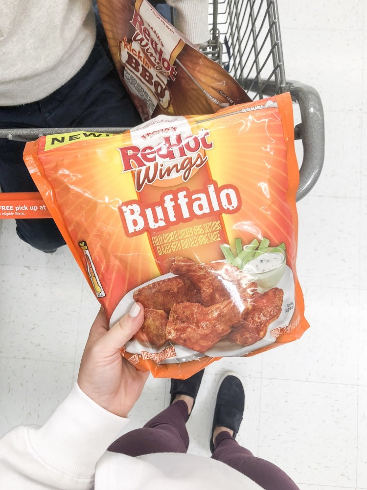 Frank's RedHot buffalo wings at Walmart