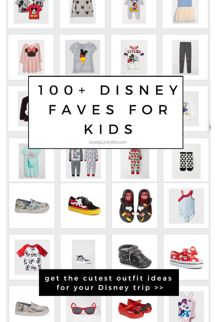100+ Disney faves to make the cutest outfits for disney world for kids - must pin if you're planning a trip to Disney World, Disney Land or taking a Disney Cruise! #disney