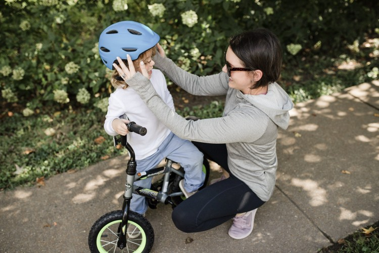 wearing a helmet while cycling is a habit that needs to be started young