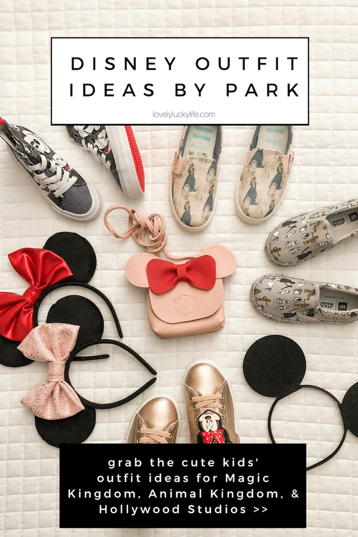 wondering what to pack for Animal Kingdom, Magic Kingdom, and Hollywood Studios? I've broken down the cutest outfit themes for each Disney park! #disney