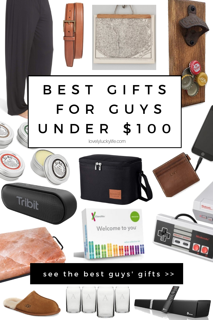 the best list of gift ideas for men, every gift listed is under $100