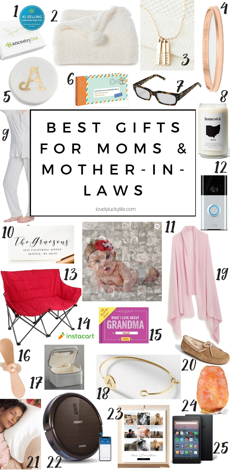 the best gifts for moms and mother-in-laws - perfect for all different kinds of moms. love this list of ideas for Christmas or Mother's Day gift ideas