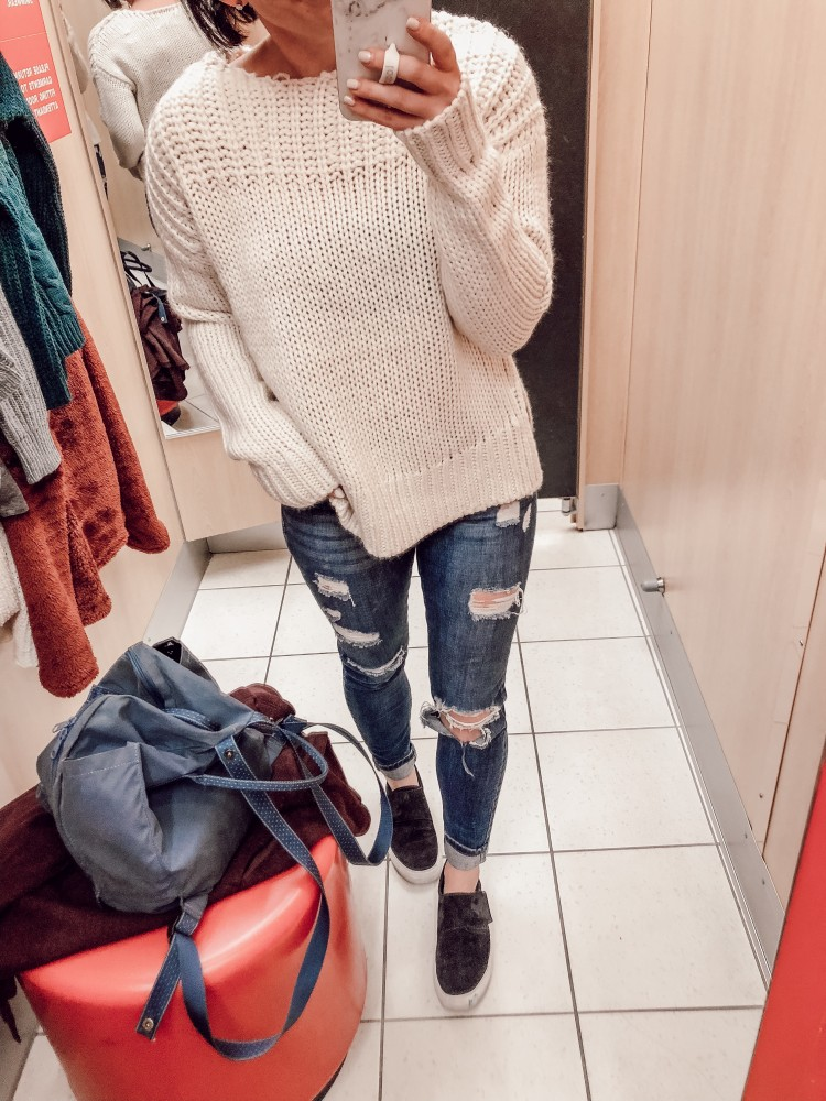 chunky knit pullover from target