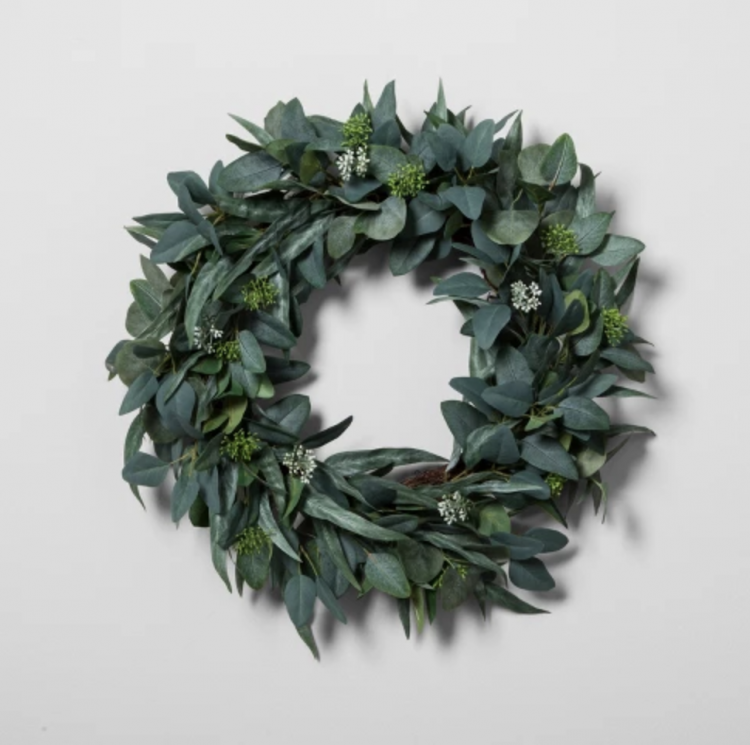 hearth & hand eucalyptus wreath