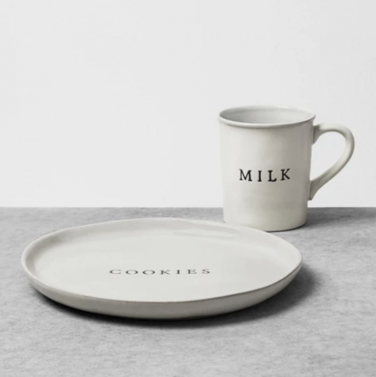 milk and cookies mug and plate set