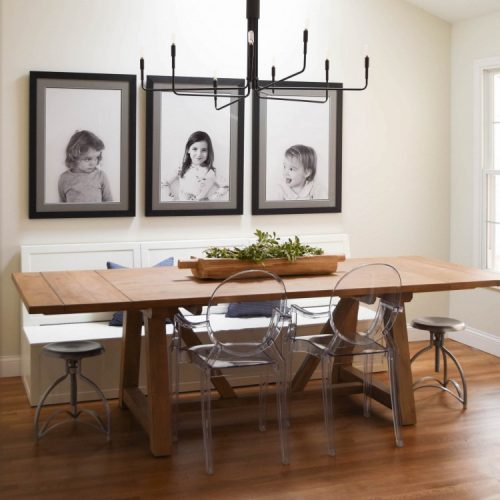 modern farmhouse dining room for a family