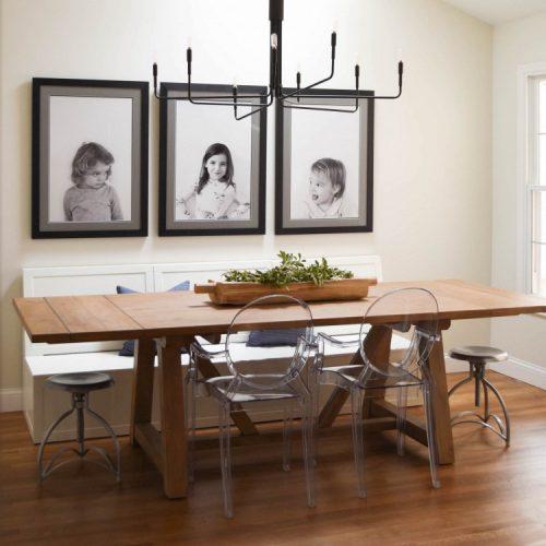modern farmhouse dining room for a family