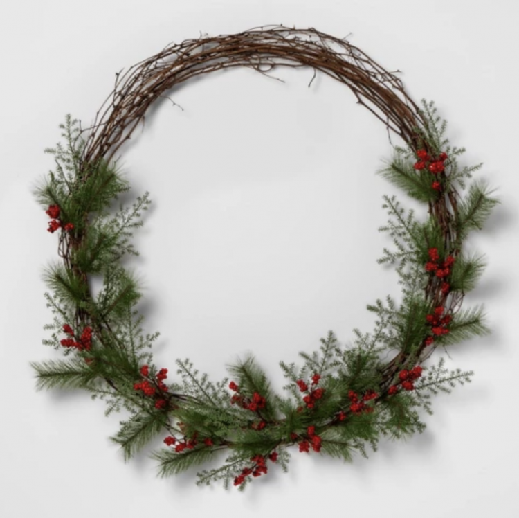 red berry pine wreath from Target