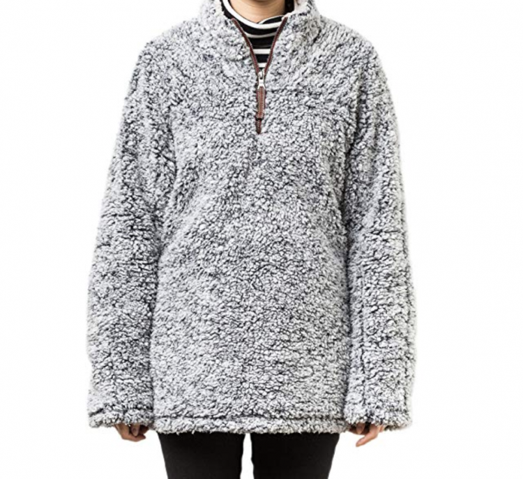 oversized sherpa pullover from amazon