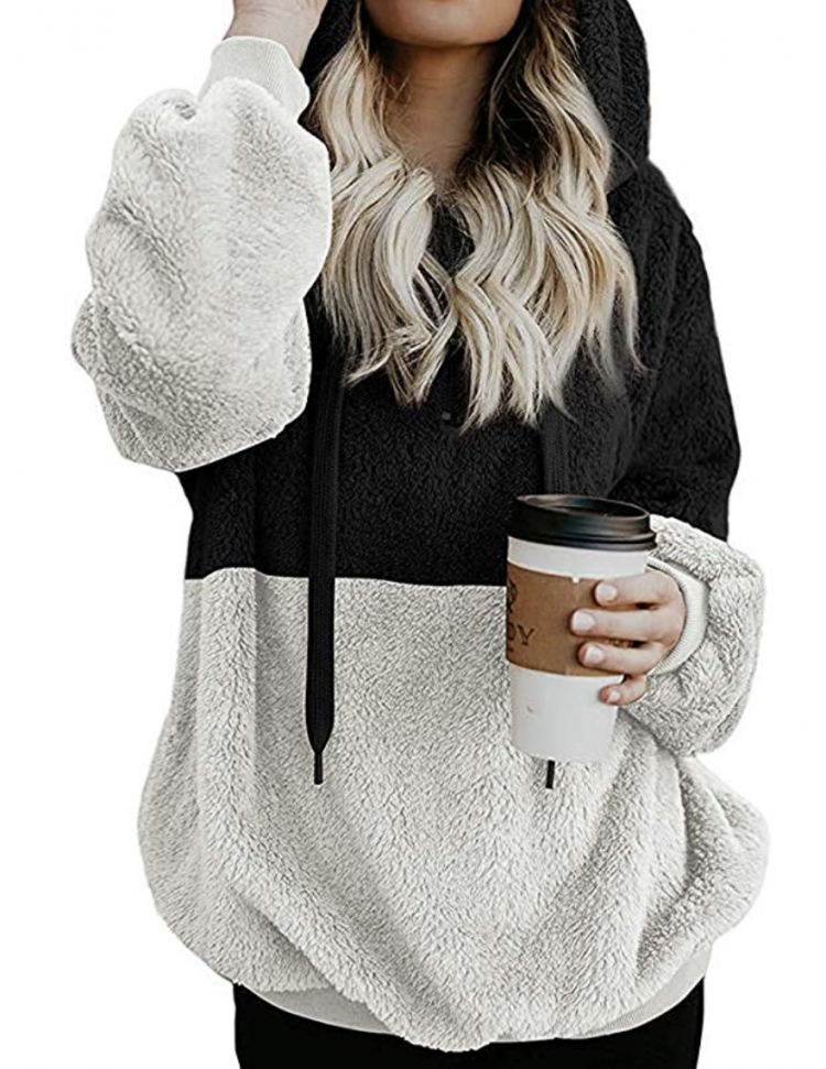 cozy hooded pullover from amazon