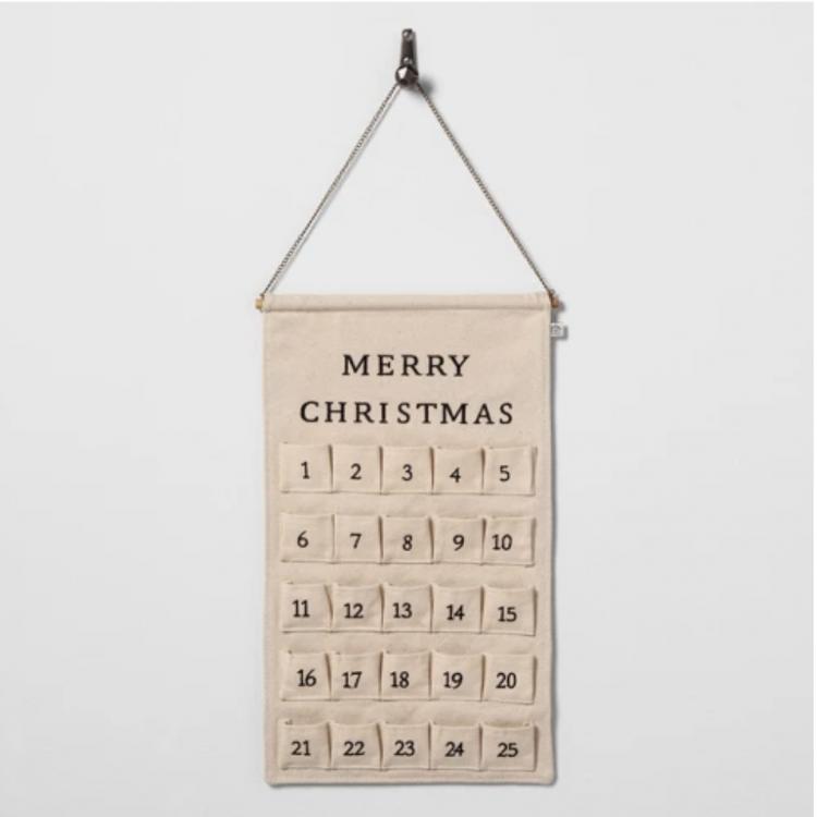 simple advent calendar for a modern farmhouse