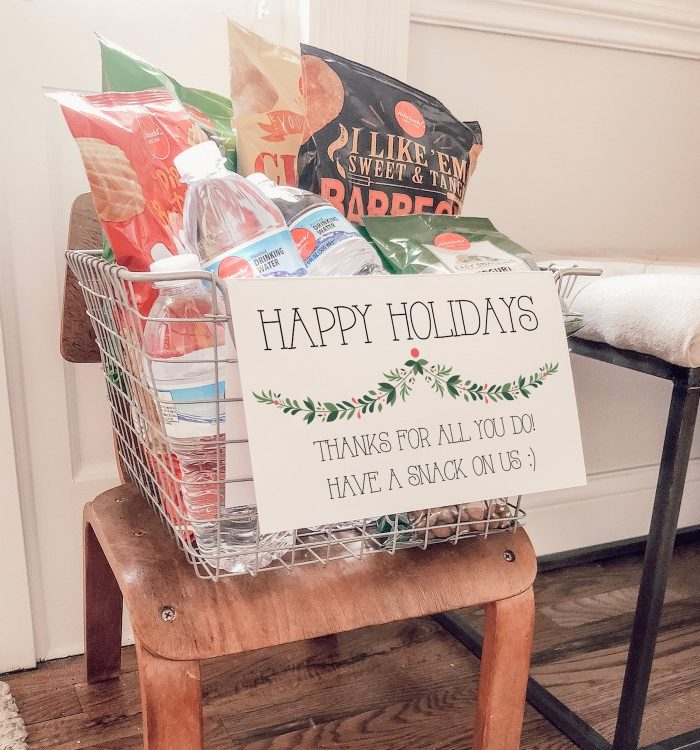Make This Delivery Driver Snack Basket & Win the Holidays