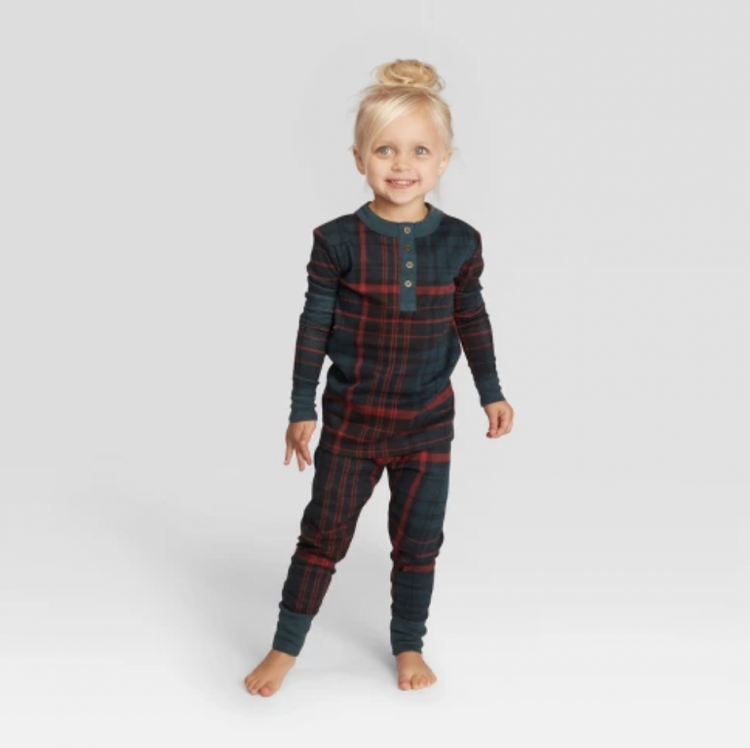target plaid PJs for toddlers