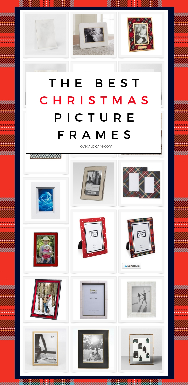 the best christmas picture frames - love these for Santa pictures every year!