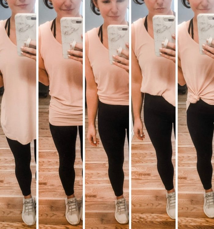 How to Wear a Tie Back Workout Tank 5 Ways