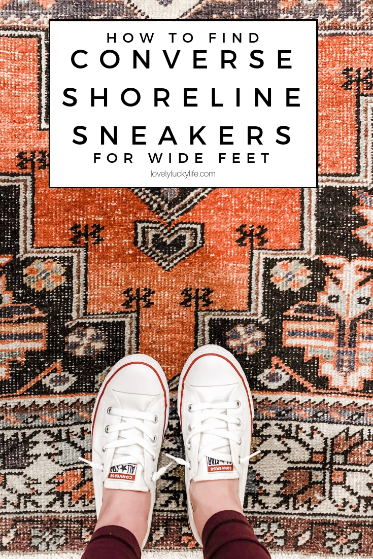 ever wonder how do converse shoreline fit? how to find converse shoreline sneakers for wide feet - this trick is for ladies with a wide width foot. if traditional Converse are too narrow for you but you love the classic and clean white sneaker look, you have to read this!