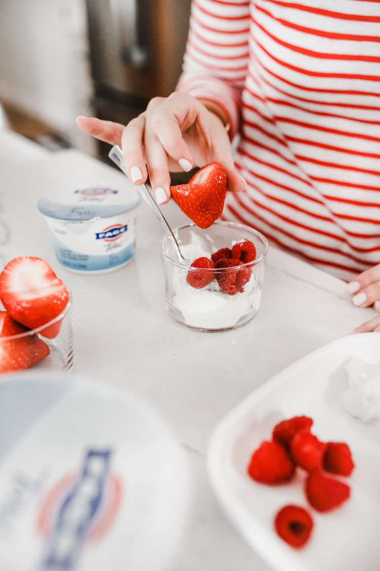 easy valentine's day idea! cut your strawberries into hearts - no cookie cutter required!