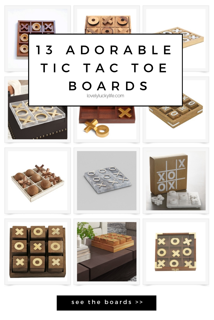 13 adorable tic tac toe boards! tic tac toe boards make the cutest Valentine's Day decor or coffee table toppers yearround