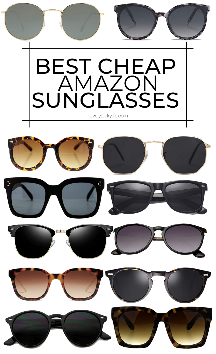 the BEST cheap Amazon sunglasses - tons of designer dupes and every single pair is under $25, most are under $15!