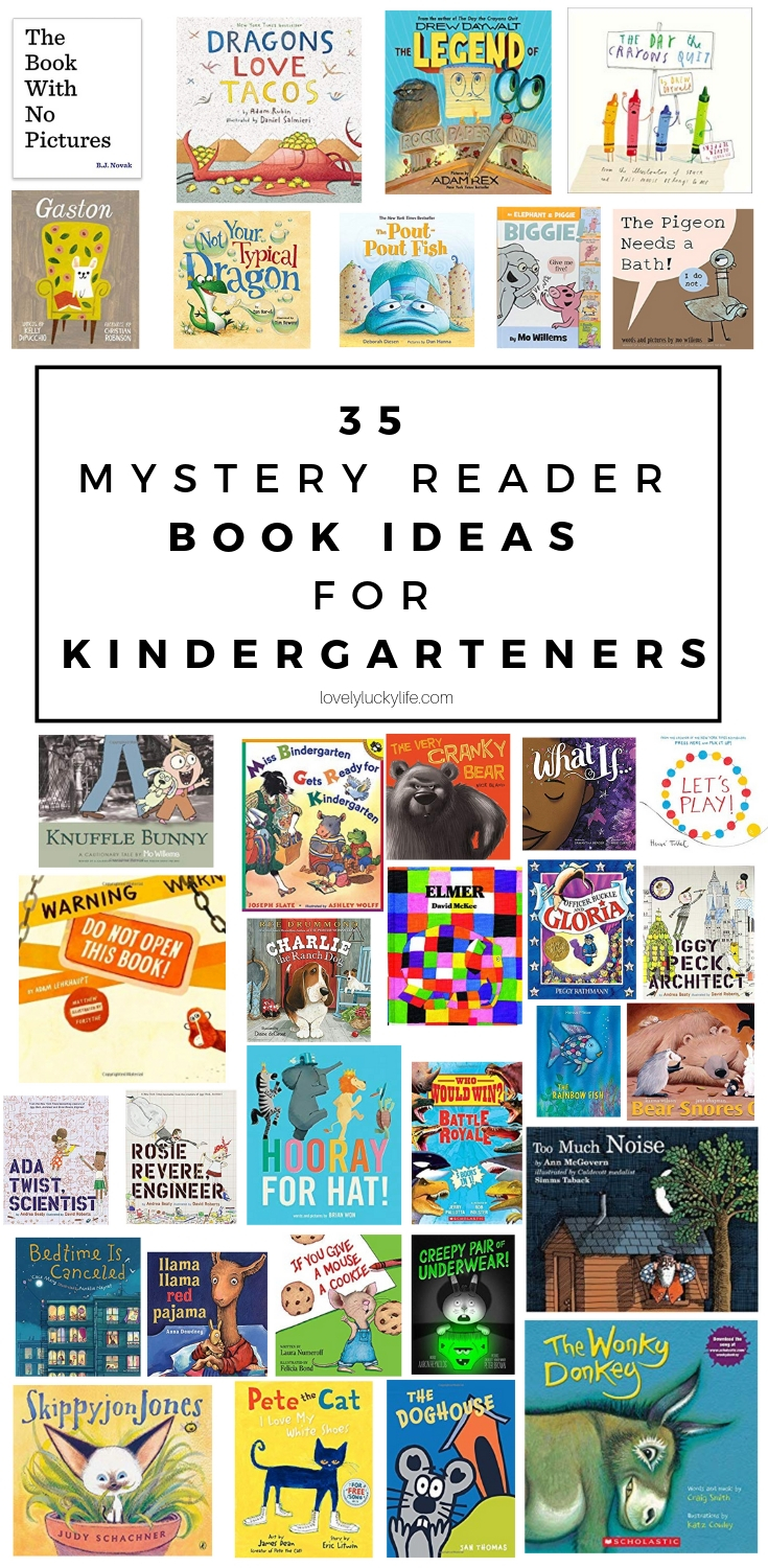 35 book ideas to read out loud to kindergartners as a mystery reader