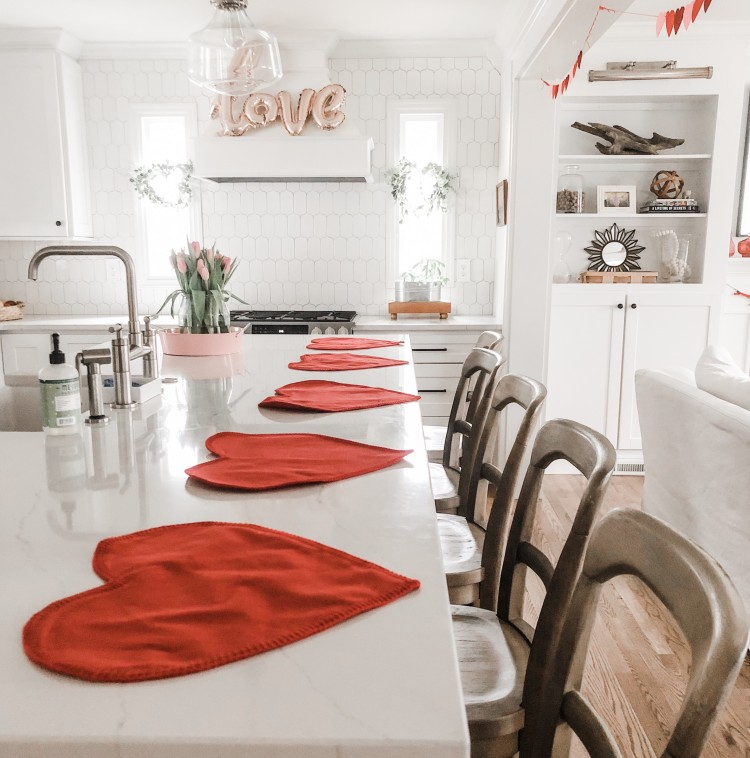 valentine's day kitchen