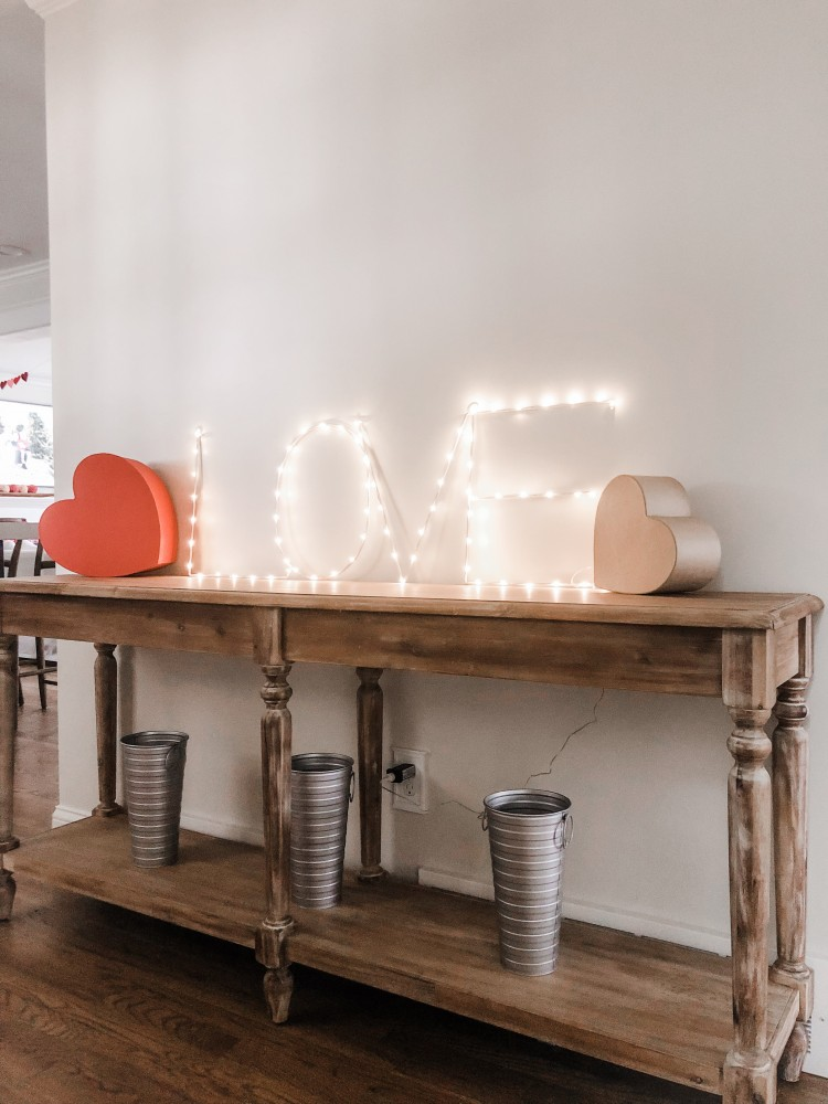 LOVE light up LED sign for Valentine's day - super cute decoration!
