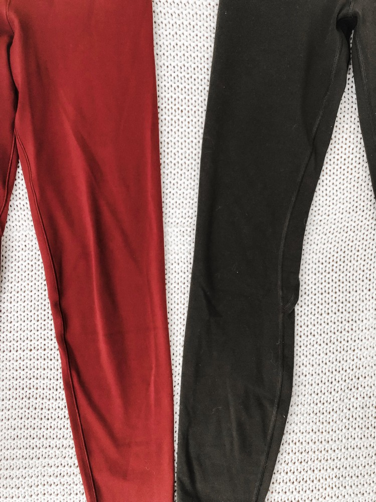 comparison of lululemon leggings