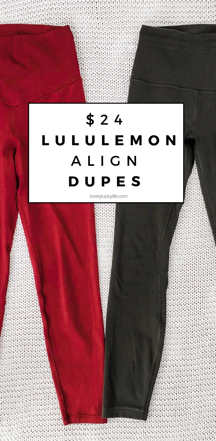 lululemon align leggings dupes for 75% less than the regular align! this post breaks down the differences between the original lulus and the dupe and answers the question 'are lululemon leggings worth it?'