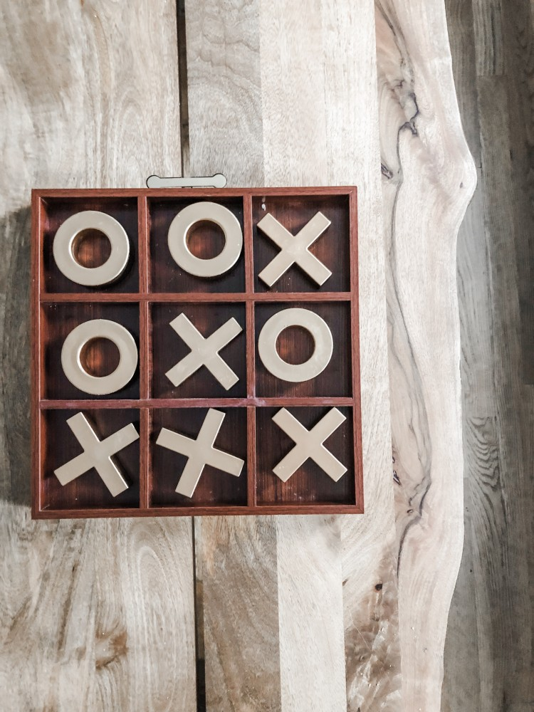 tic tac toe board for valentine's decoration for the office or coffee table