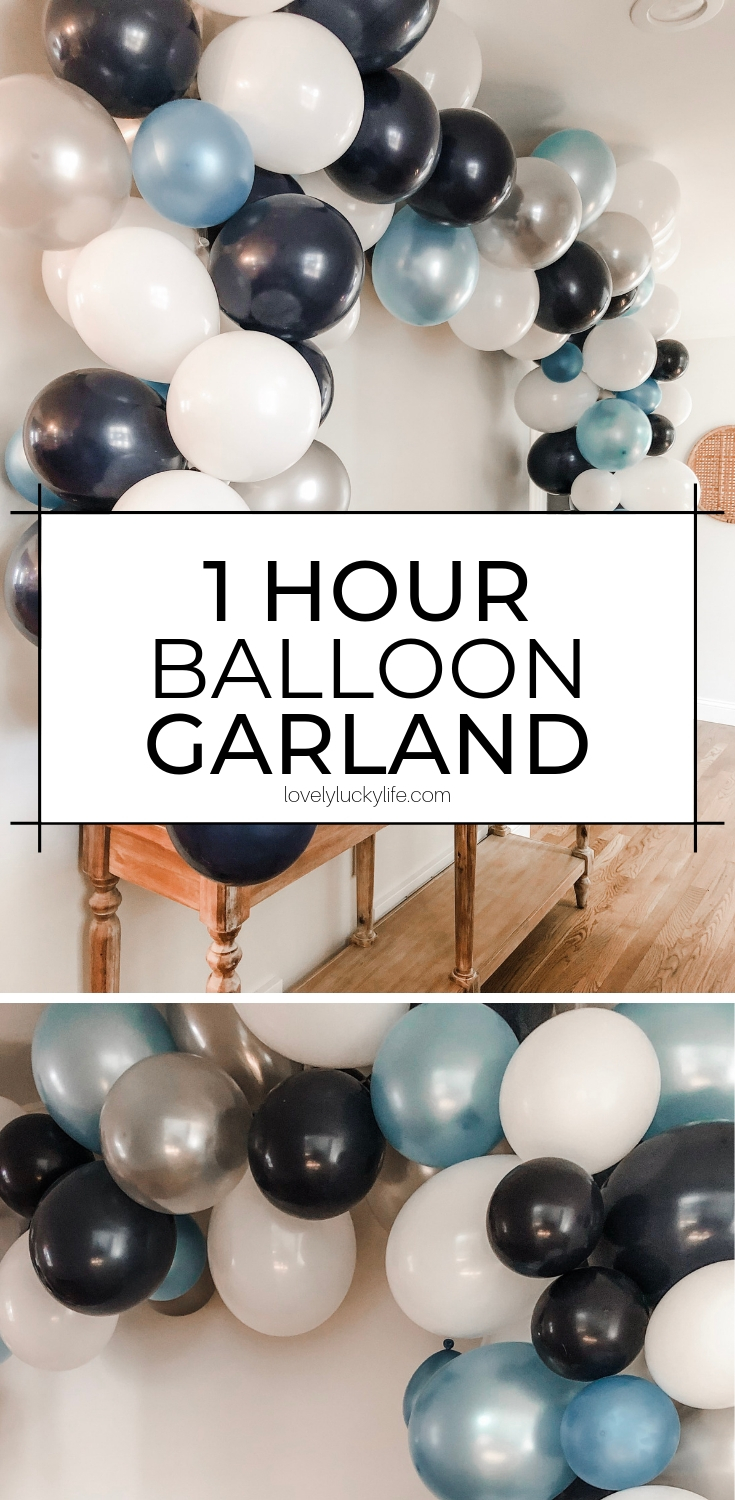 How To Make A Seriously Easy Balloon Garland Lovely Lucky Life