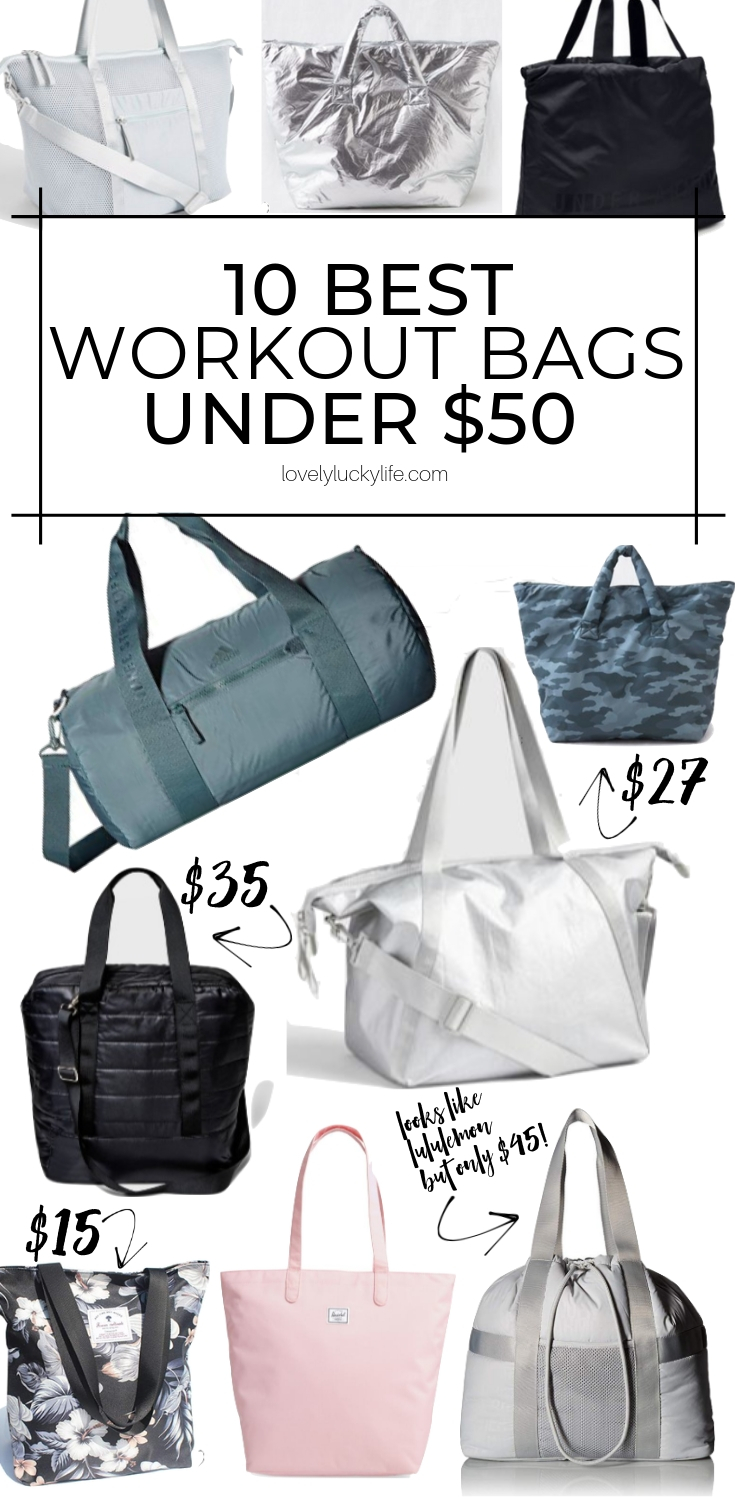 best workout bags under $50 - these gym bags are SO cute and all inexpensive!