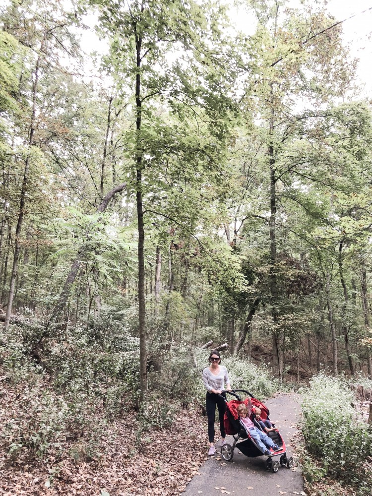 hiking at Powder Valley Nature Center with kids