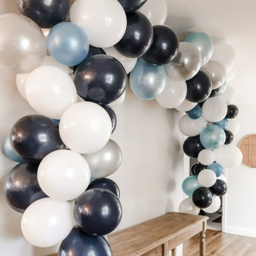 how to make your own balloon banner cover