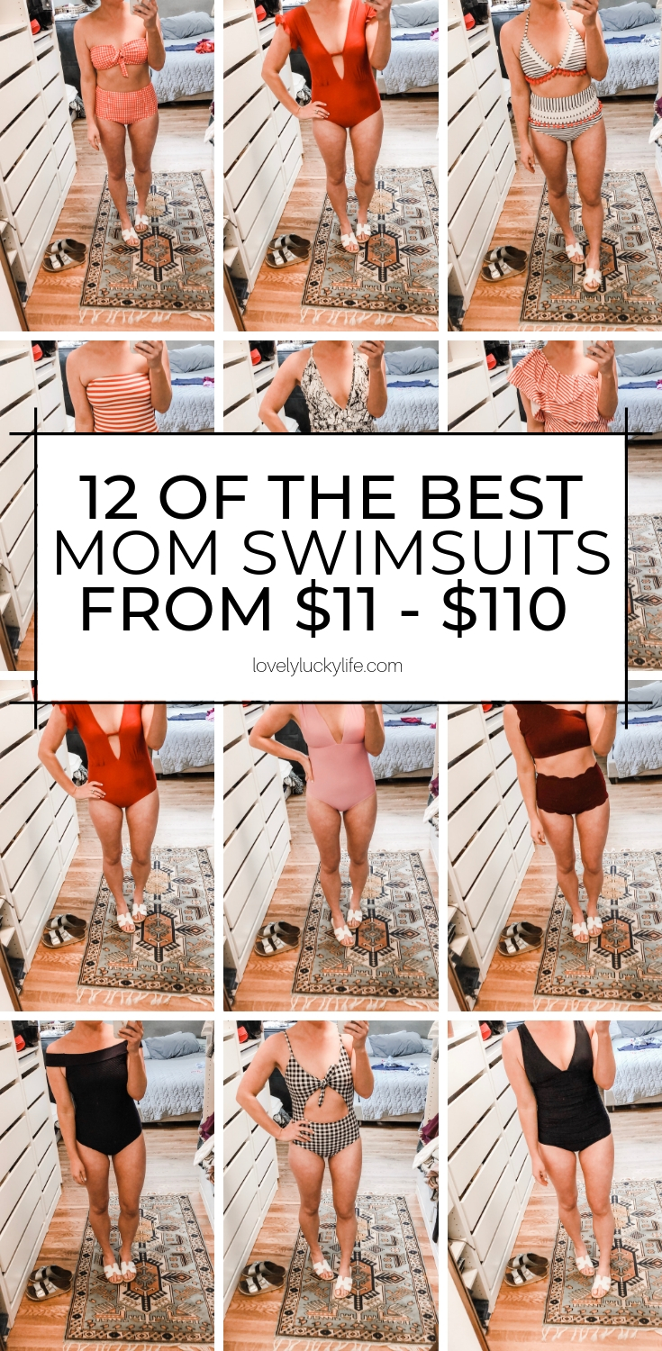 love this mom swimsuit try-on! 12 suits ranging from $11 to $110!