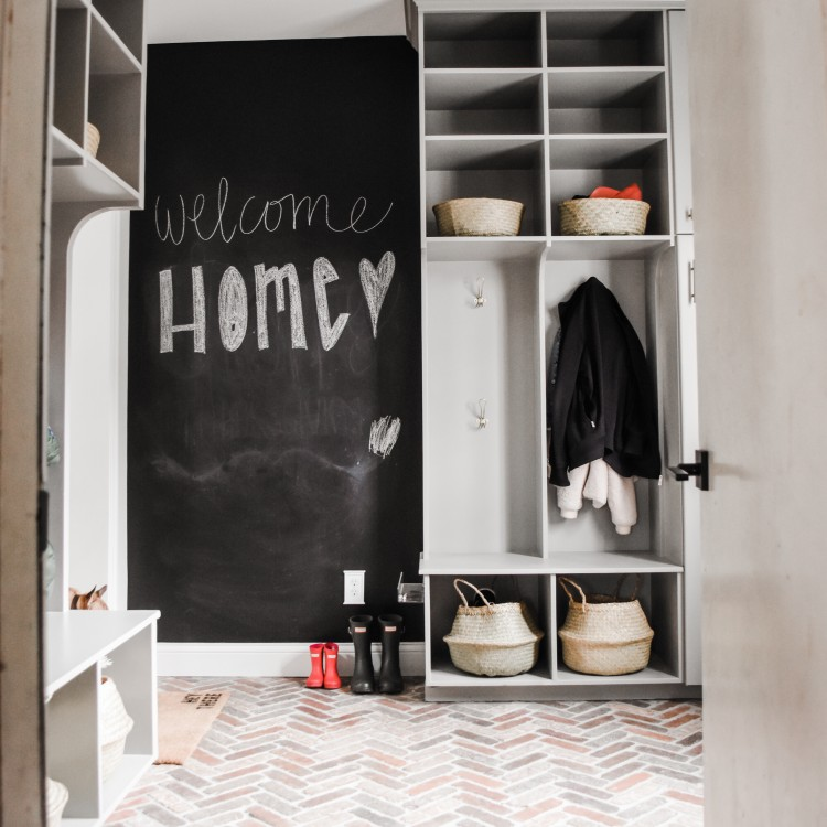 Our Modern Classic Mudroom Reveal