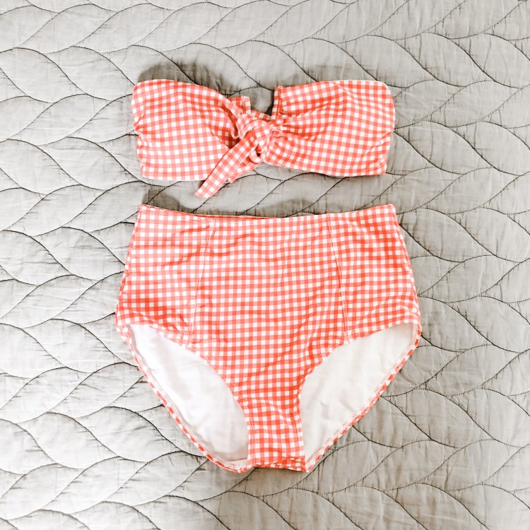 cute red gingham 2 piece from shein - only $12!