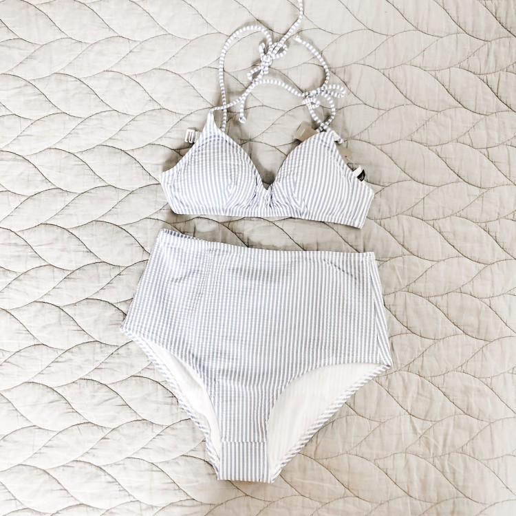 seersucker bikini from j crew