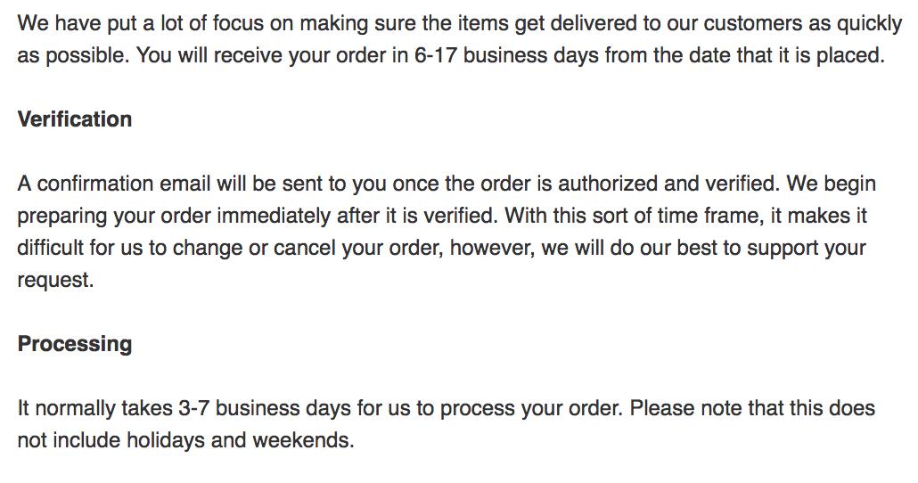 shein shipping times