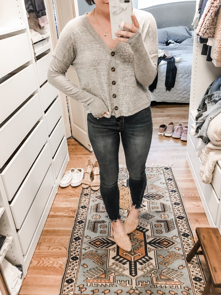 abercrombie cozy button up cardigan top