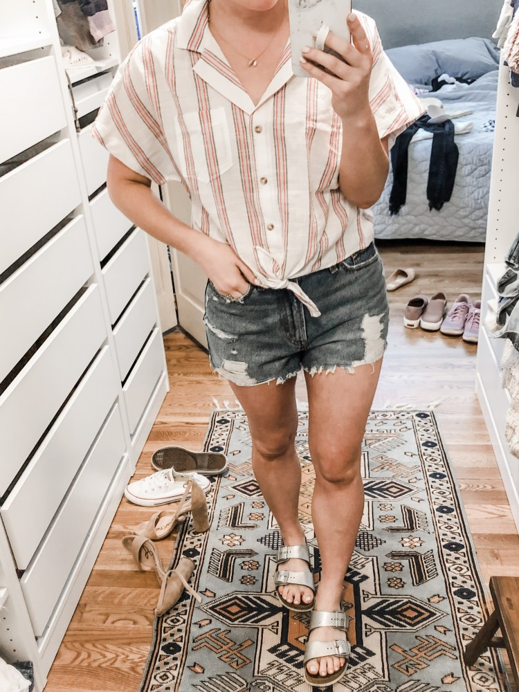 abercrombie striped dolman top - reminds me of Madewell for a fraction of the price