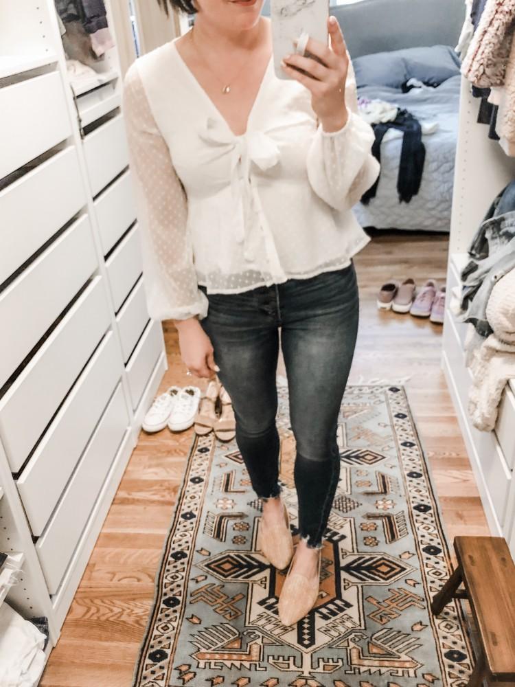 abercrombie tie front blouse